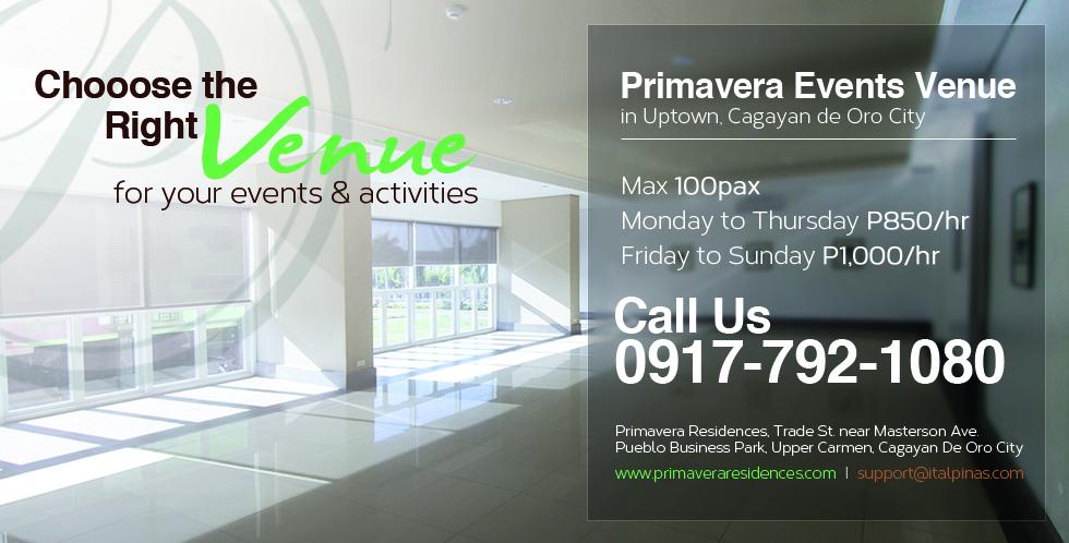 Primavera_Events_Venue_in_Uptown>Cagayan de Oro