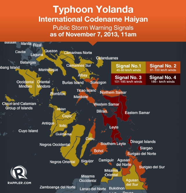 Yolanda Typhoon Update from Rappler