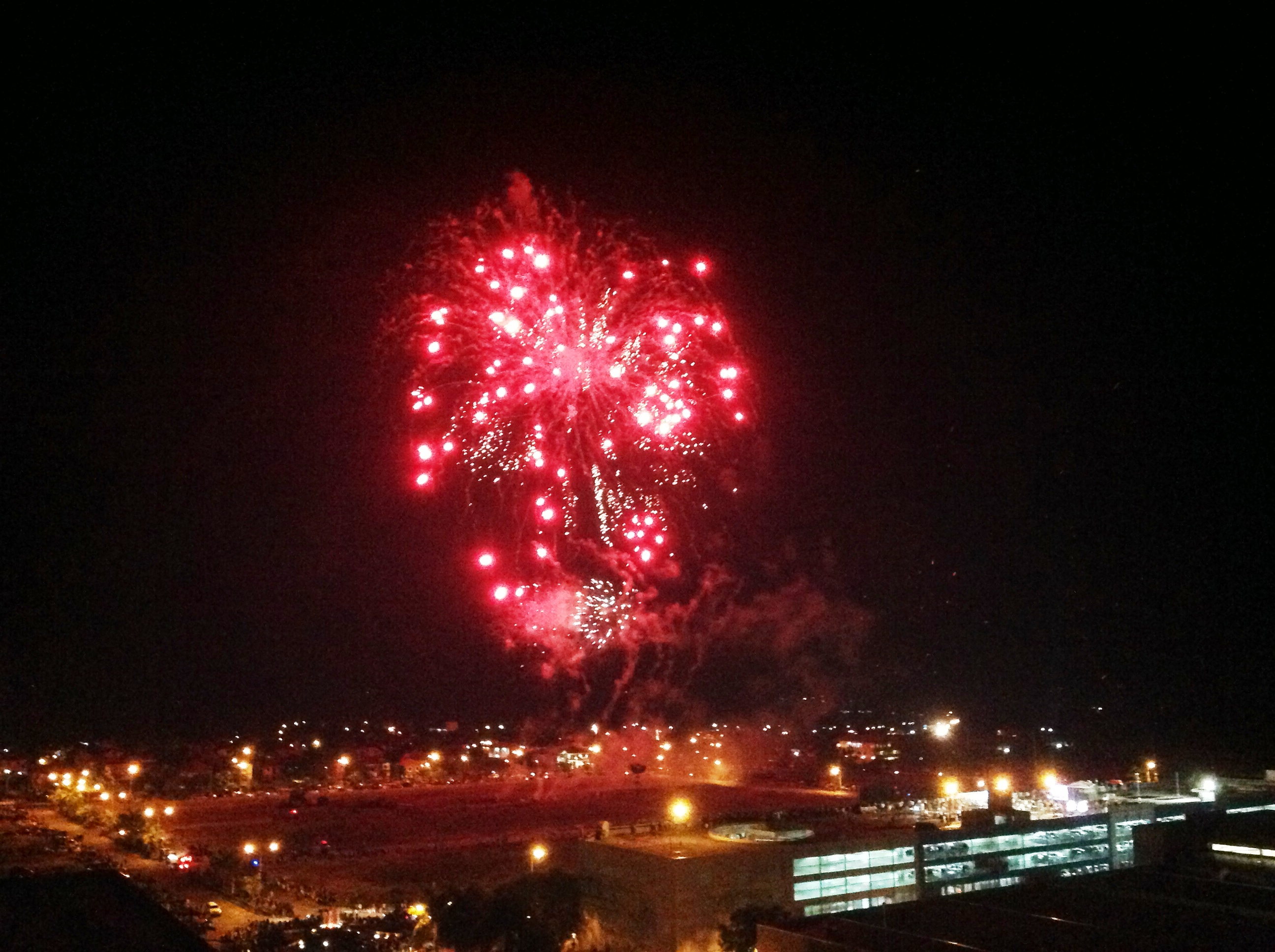 View of Fireworks Show from rooftop of Primavera Residences 21 December 2013