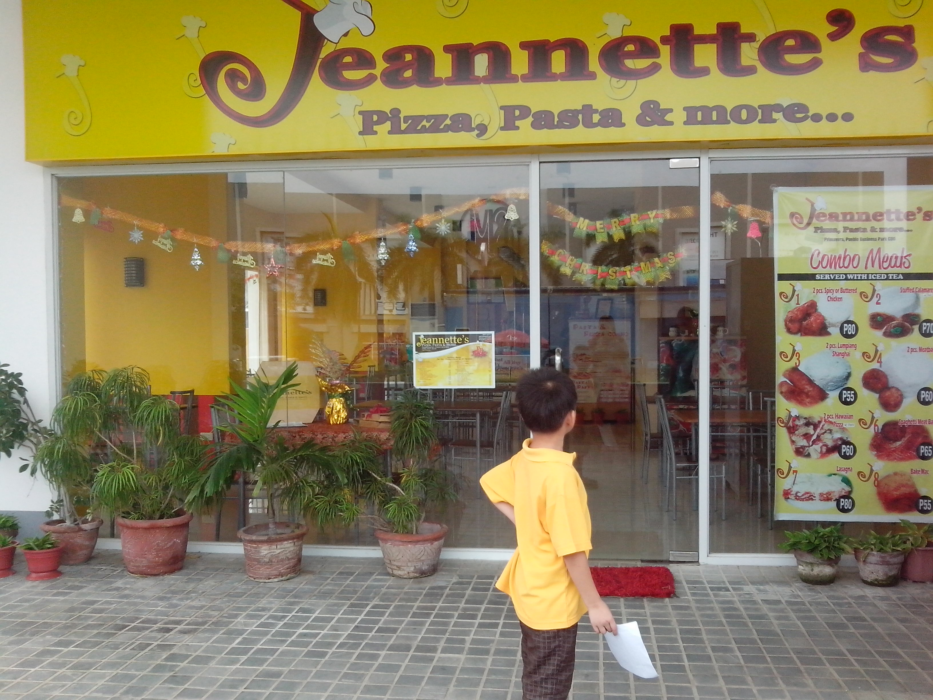 Jeanette's Pizza Restaurant | Primavera Residences | Uptown Cagayan de Oro