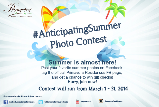 Join the #AnticipatingSummer Photo Contest on Facebook