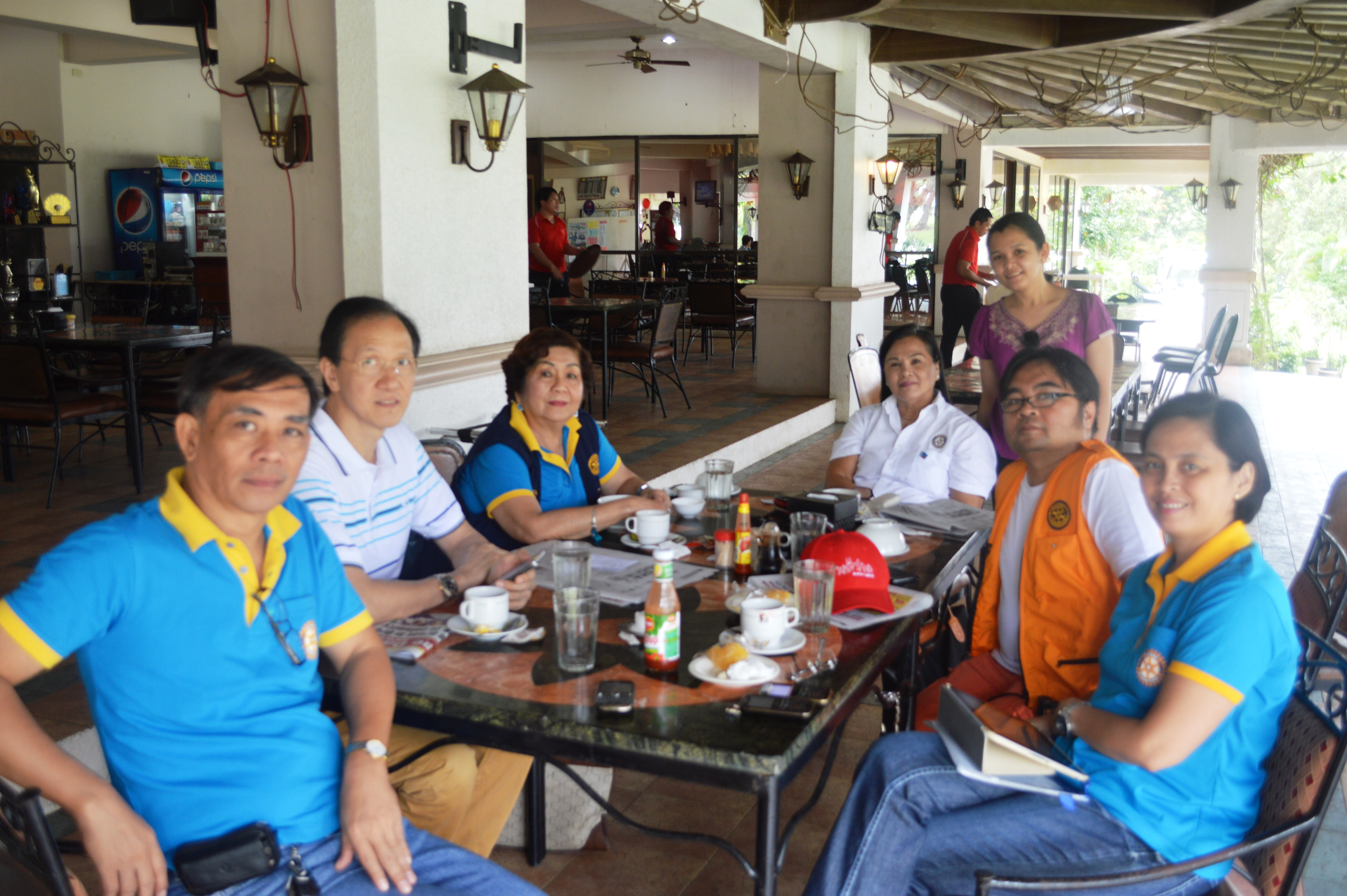 with Rotary Officers