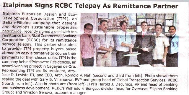 Manila Bulletin- Italpinas,042114