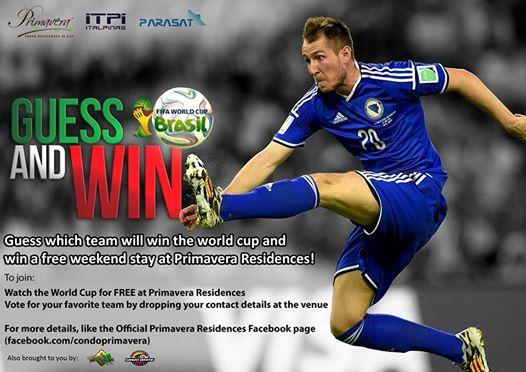 Primavera World Cup contest poster