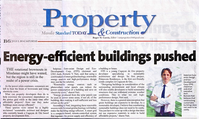 ITALPINAS,July52014,Energy-efficient,ManilaStandardToday