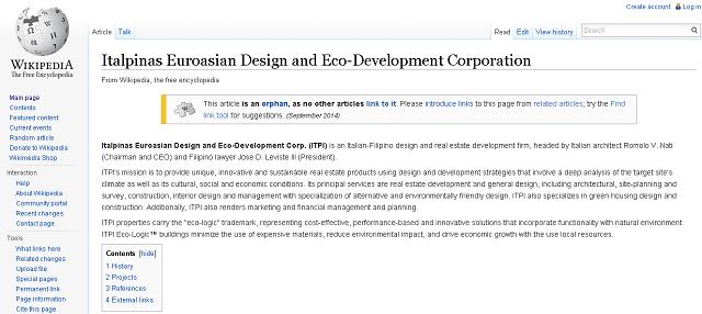 ITPI on Wikipedia