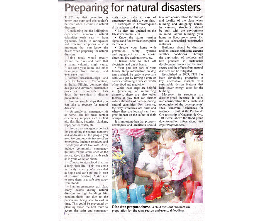 Preparing for Disasters_ManilaStandard_Aug2014