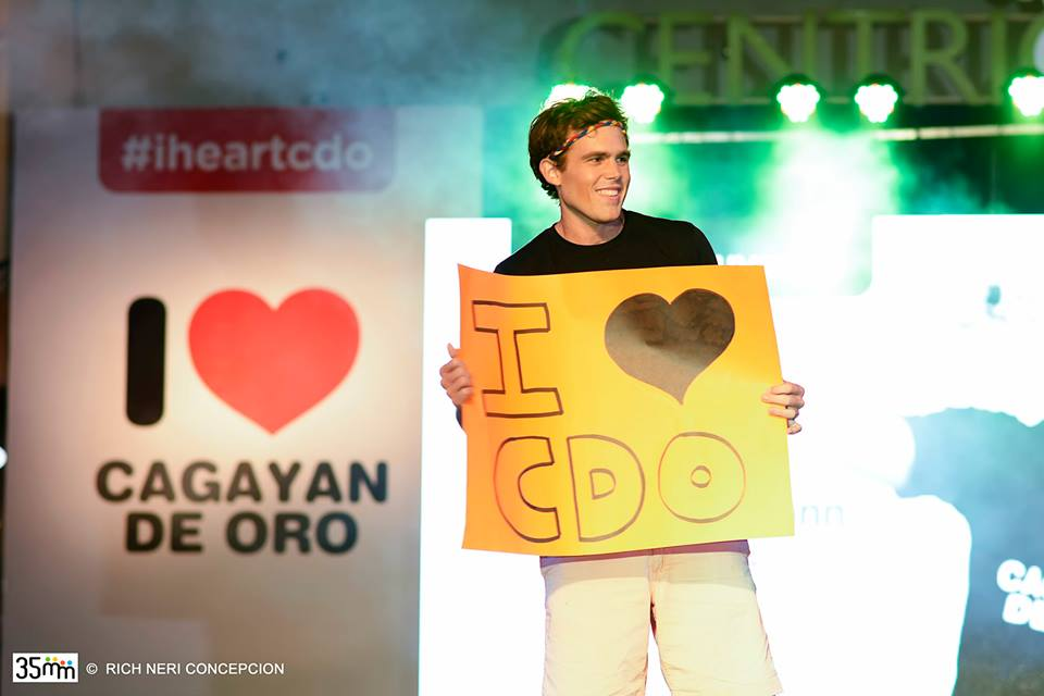 Photo by Rich Concepcion Kulas flaunts how he loves Cagayan de Oro City.