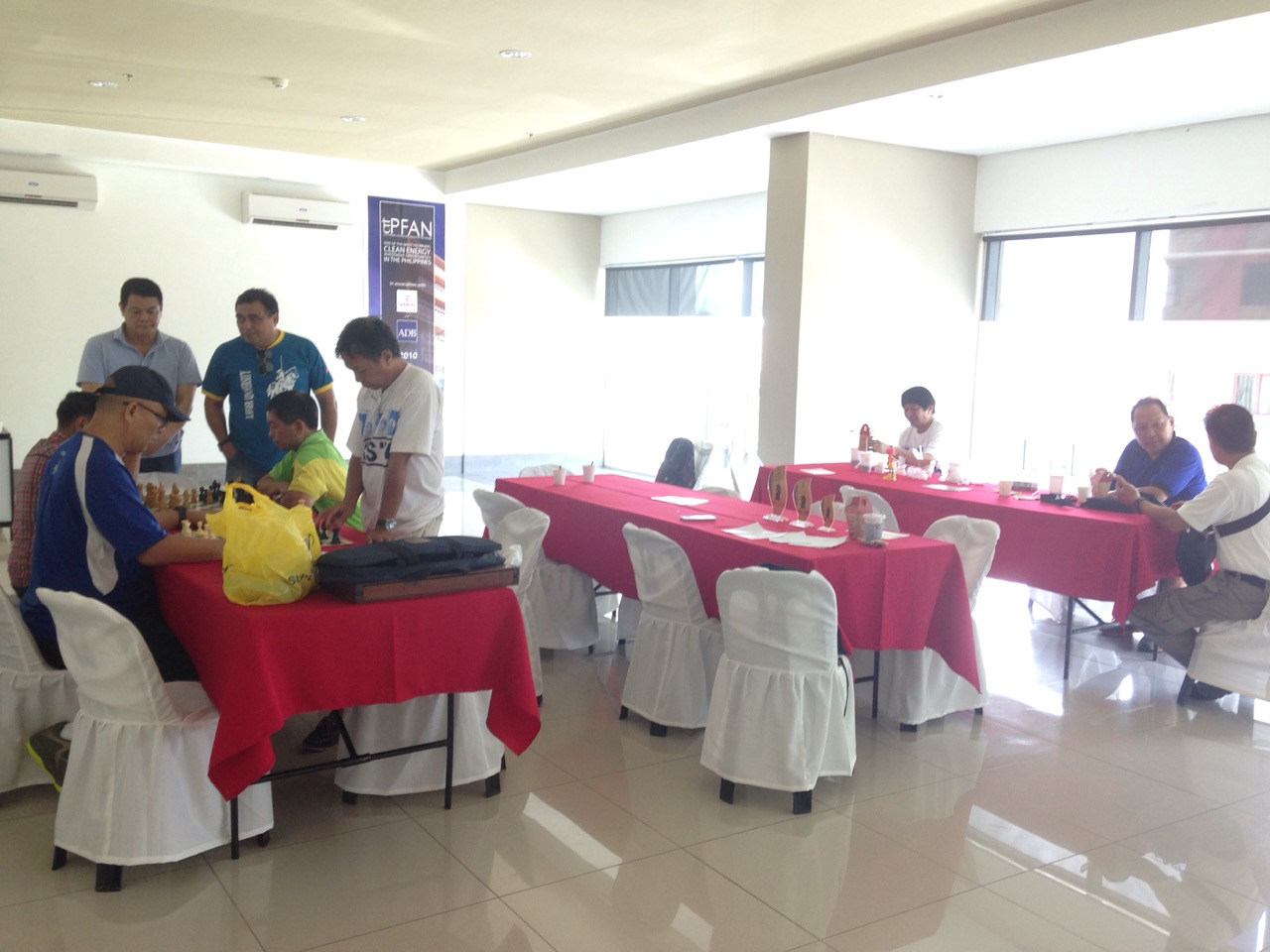Batch '74 getting started with their chess tournament.