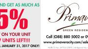 special discount- sale- Primavera Residences-Cagayan de Oro City-Italpinas Development Corporation