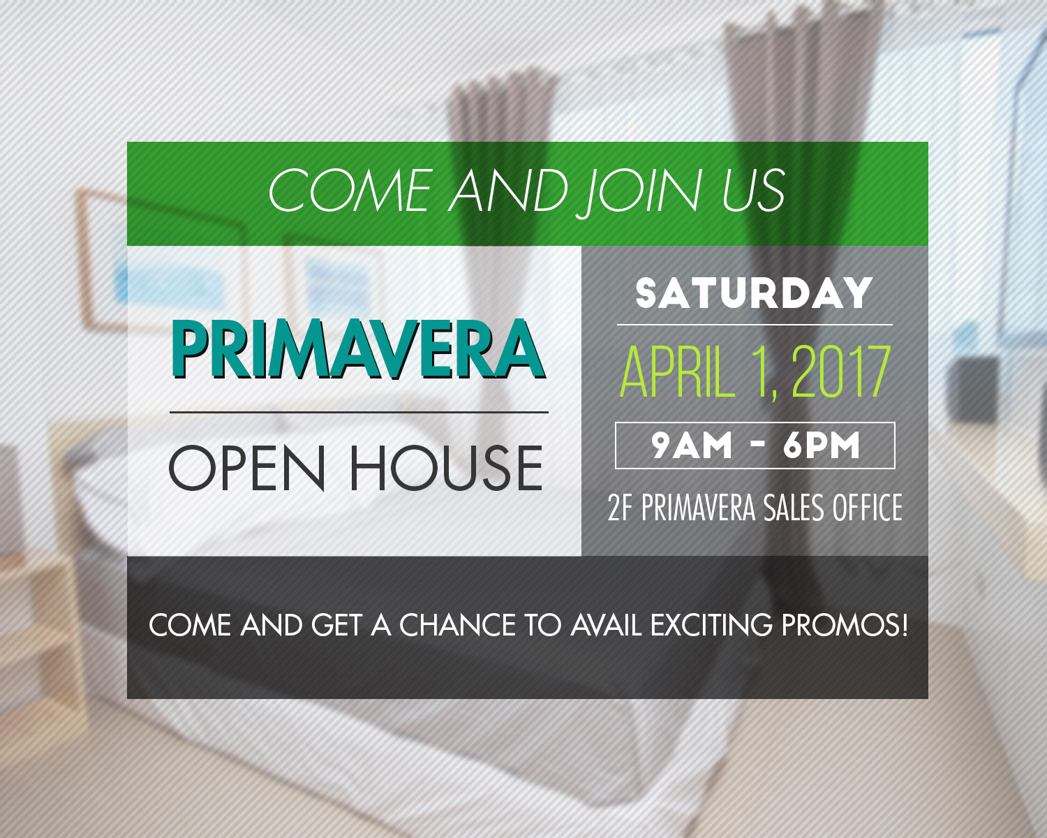 Primavera Open House on April 1, 2017!!!