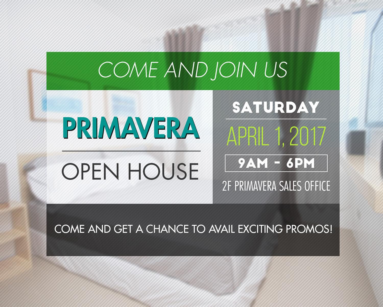Primavera Open House on April 1, 2017!!!
