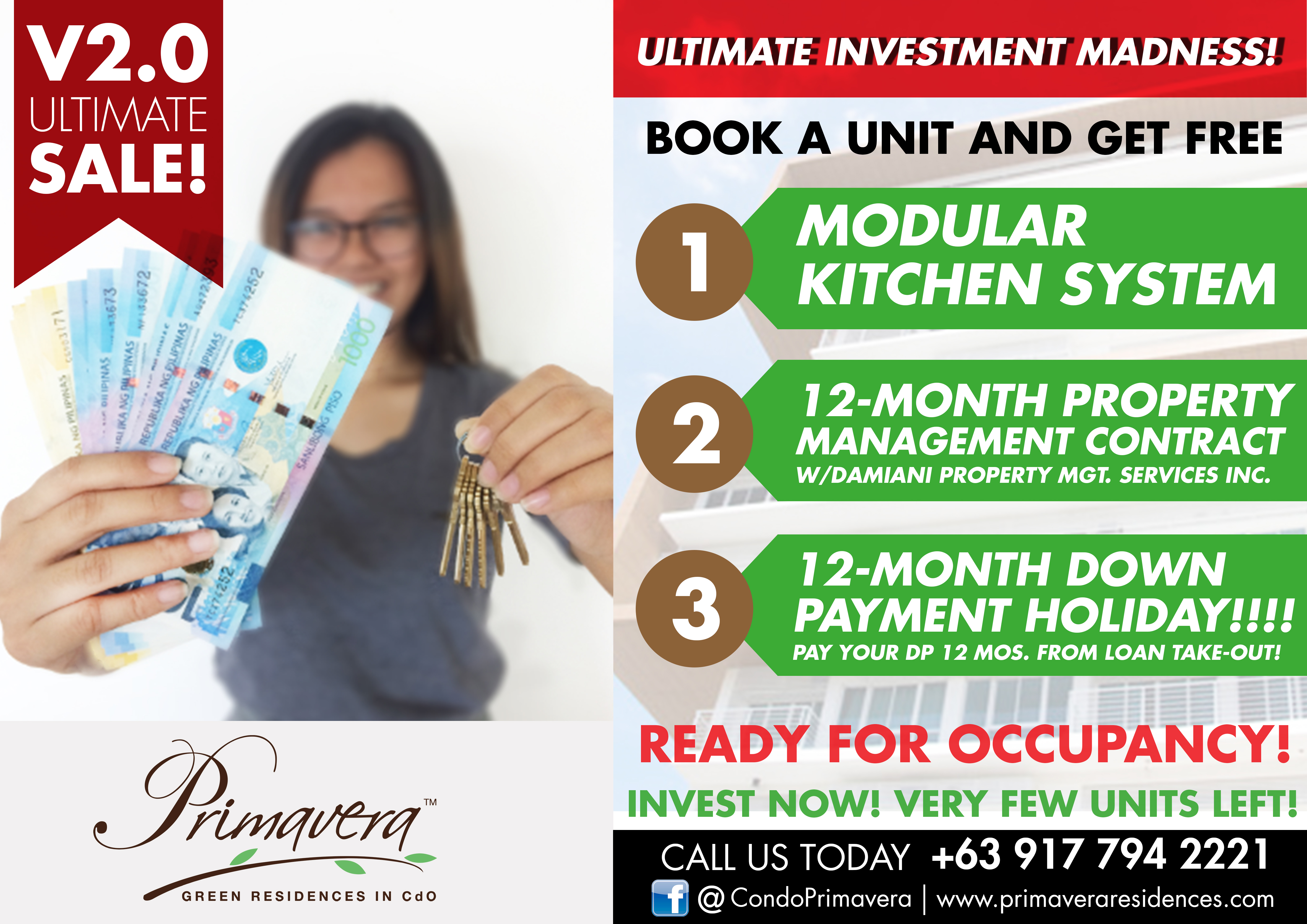 Primavera Residences Investment Sale is Back!