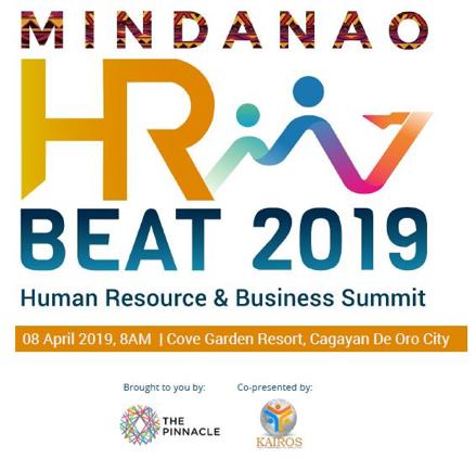 ARCHITECT NATI INVITED TO THE MINDANAO HR BEAT 2019